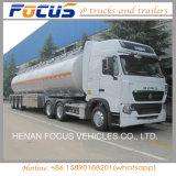 40-60 remorque de camion-citerne d'essence d'alliage d'aluminium de capacité de Cbm à vendre
