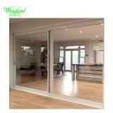 Европейская алюминиевая двойные стекла боковой сдвижной двери для продажи