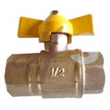 De Gas de Latón de la Válvula de Bola con la Manija de Mariposa, En331 Estándar