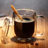 ロゴのガラスコーヒー・マグのハンドメイドの乳白ガラスの昇進のギフトをカスタマイズしなさい
