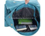 Gewaschener Segeltuch-Arbeitsweg-Schule-Laptop-Schultaschen-Schulter Crossbody Beutel-Rucksack