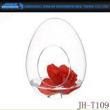 Bola del agua de botella de vidrio de pedernal de la dimensión de una variable de las cáscaras de huevo alta