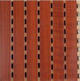 Painel de parede de madeira acústico do MDF da absorção sadia para decorativo interior