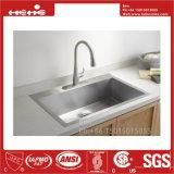 Edelstahl-Oberseite-Montierungs-einzelne Filterglocke-handgemachte Küche-Wanne, Küche-Bassin, Küche-Becken