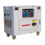 Gerador Diesel ultra silencioso 62dba Soundproof de Yarmax Ym10000t 5kVA-6kVA