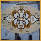 ホテル、円形浮彫りパターンのための磨かれたウォータージェットの大理石の石の円形浮彫り