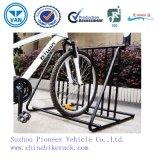 Cremagliere ricoperte della bici del basamento di parcheggio della bici della polvere nera