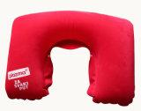 Promoción en forma de U Flocado almohadilla inflable de cuello de viaje