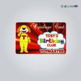 Tarjeta de plástico de plástico/PVC/tarjeta de membresía tarjetas de banda magnética de plástico