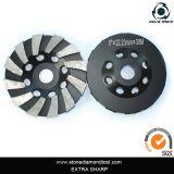 Wave Turbo Diamond Grinding Cup Wheel pour Stone
