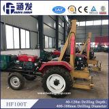 Agua montada en el tractor y torre de perforación para la venta (HF100T)