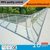 Rail de l'escalier en acier inoxydable avec finition miroir à finition satin et