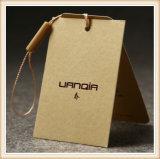 Logotipo personalizado Diseño personalizado de papel de la moda colgar etiquetas para prendas de vestir