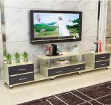 Moderne kundengerechte reißen hölzernen Fernsehapparat-Standplatz mit 6 Fächern ab