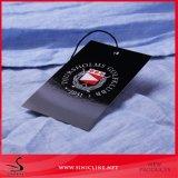 Sinicline schwarze Drucken-Entwurfs-Kleid-Fall-Marken mit weißem Firmenzeichen
