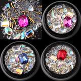 2018 оптовой лак для ногтей - яркий дизайн 9 Стили Micro Crystal валики смешанных 3D-лак для ногтей декор Crystal камня для лак для ногтей искусства
