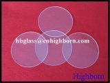 Matériel gm cercle de la plaque de verre de quartz silice plus épais