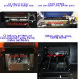 고품질 작은 체재 A3 탁상용 UV 평상형 트레일러 인쇄 기계