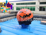 Pumpkin Inflatable Wipeout Game para Halloween