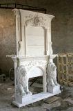Doppio disegno di marmo di pietra naturale del leone di bordi del camino (SY-MF260)