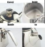 Teiera differente dell'acciaio inossidabile di formati