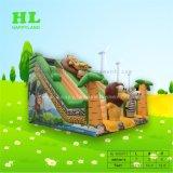女の子のための優雅なCake Car Inflatable Bouncer王女の乾燥したスライド