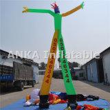 2本の足を搭載する膨脹可能な空気ダンサーの広告