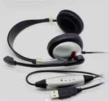 PC에 Sound 최고 Quality VoIP Headphone Via USB Connection
