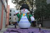 Tamaño enorme muñeco de nieve inflable