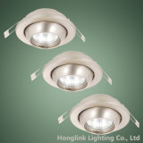 Visualizzazione Shelf Packed Adjustable Ball LED Recessed Downlight per Whole Sale