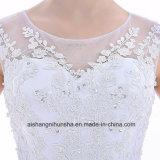 Elegantes A - Zeile Hochzeits-Kleid-Sleeveless Robe Tulle Appliques Hochzeits-Kleid