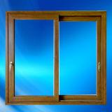 Qualitäts-hölzerne Farbe PVC-gleitendes Fenster