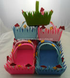 China Fabricante Wholesales Custom Handmade Felt Basket