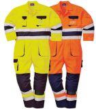 Il Workwear ignifugo 100% di sicurezza della fiamma di sicurezza del cotone copre il vestito generale, l'inverno franco a prova di fuoco in mare aperto che funziona la tuta di Ripstop per olio