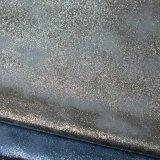 Bronzeando a tela de tingidura do plutônio do couro do poliuretano do falso para o saco da sapata
