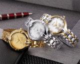 Belbi 잎 다이얼 디자인 합금 숙녀 선물 석영 손목 시계