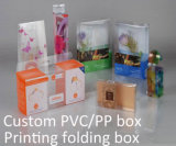 Competitivo China fabricante PVC / PP / PET caja de embalaje de plástico (caja plegable)