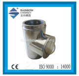Stainless stalk Chimney Tee with cover