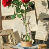 Vaso di vetro del fiore del Sigle della radura di disegno della corda