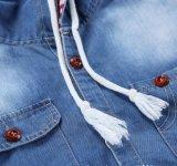 Overhemden de Met een kap van de Was van het Bleekmiddel van het Denim van 100%Cotton van mensen