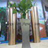 高品質のカスタムステンレス鋼の植木鉢の刷毛引き仕上げの床のタイプ