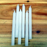 velas blancas 18g hechas por la cera de parafina hecha en China
