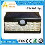 luz accionada solar de la pared del jardín del sensor de movimiento de la lámpara al aire libre 28LED