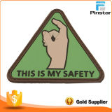 Garment와 Bag 주문품 를 사용하는 Triangle Hand Soft PVC Rubber Patch