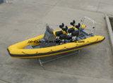 Bote patrulla de la costilla de Aqualand 19feet los 5.8m/bote de salvamento inflable rígido (RIB580T)