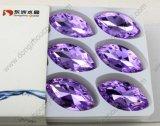 De in het groot Machinaal gesneden Violette Buitensporige Steen van het Kristal met Zilveren Plateren