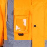 Зимние высокая видимость безопасности бомбардировщик светоотражающие куртки