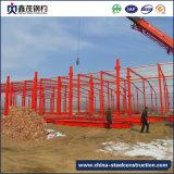 El bastidor de la luz Prefaricated Diseño en la construcción Edificio de estructura de acero