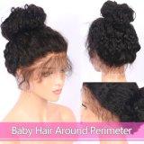 150% 조밀도 아기 머리를 가진 깊은 파 사람의 모발 가발