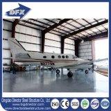 Hangar préfabriqué fabriqué d'avions de toit d'armature de modèle en acier de cloche